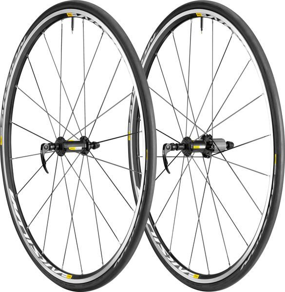 Mavic Aksium S Wheel/Tire Set- Mavic's Aksium wheels are full of trickle-down technology, so you can have a pro-level ride on a privateer's budget