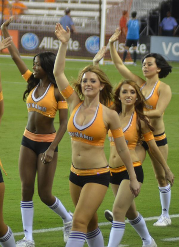 Cheerleaders Of The Houston Dynamo: Sorta Like The Laker Girls Of MLS - Click for More Pinterest Pictures