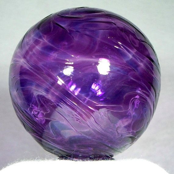 gorgeous purple glass fishing float.  want it!