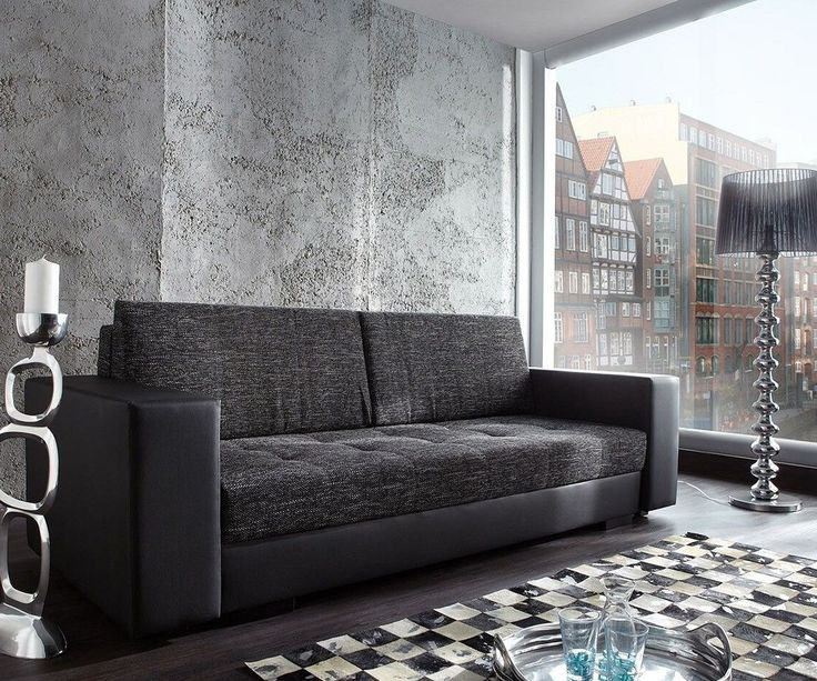 Die besten 25+ schwarzes Sofa Ideen auf Pinterest - wohnzimmer blau schwarz