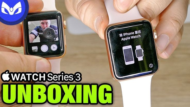 cool Apple Watch Serie 3 UNBOXING COMPITE ?