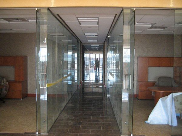 a commercial of double glass wall partitions near atlanta georgia