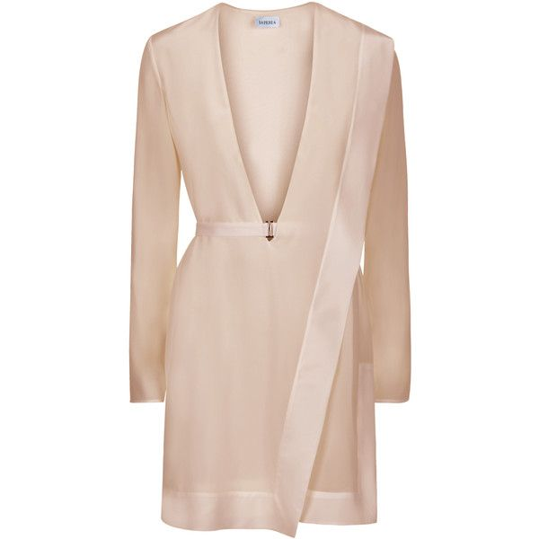 La Perla Wired Dress found on Polyvore featuring dresses, vestidos, jackets, beige, asymmetrical dress, beige dress, panel dress, beige cocktail dress and layered dress