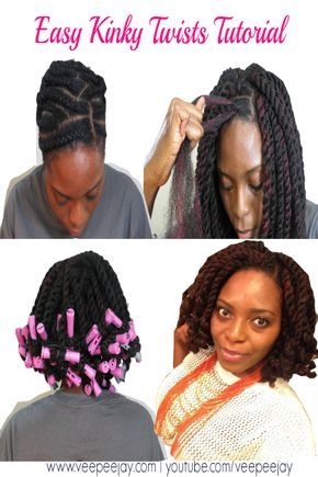 Are you looking for an Easy way to do Kinky Twists? Try this method using the Crochet braiding method