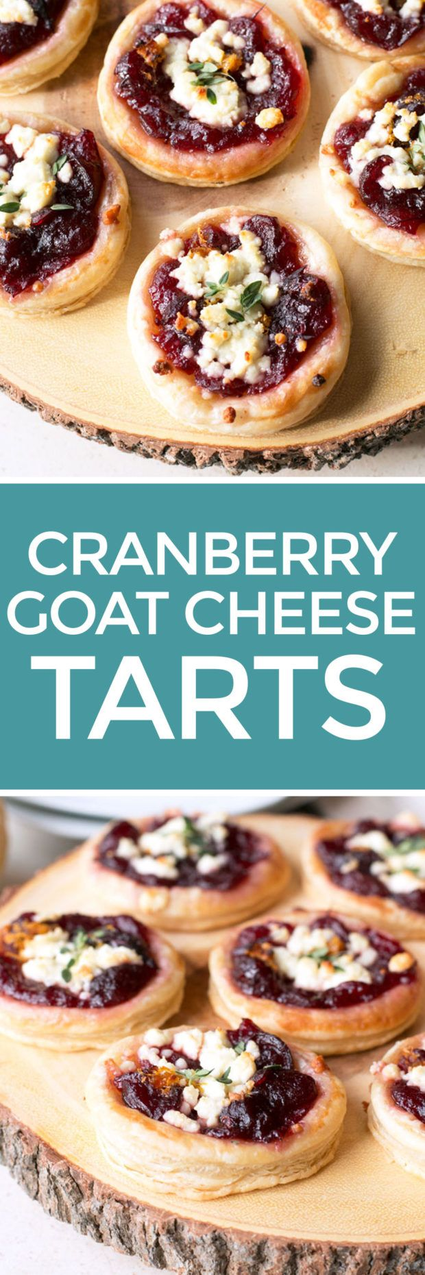 Cranberry Goat Cheese Tarts from Cake 'n Knife! Love these!!! Delicious and easy!