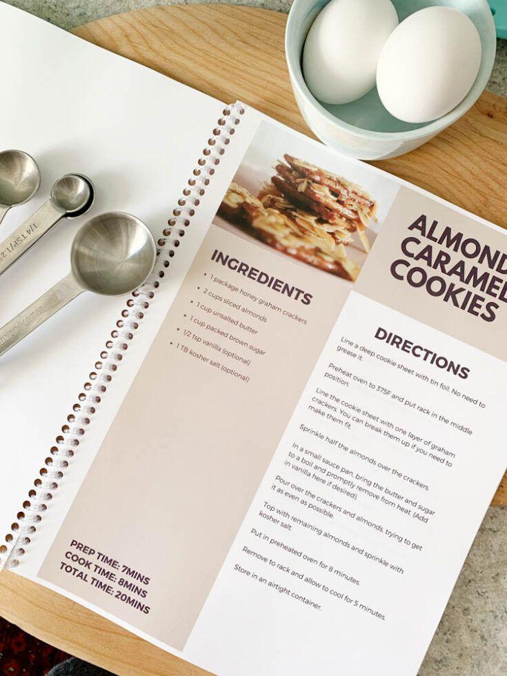 Diy family recipe book free template recipe book diy