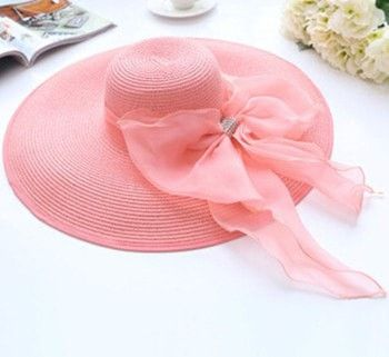 Women's Fashion Large Wide-Brim Bownknot Floppy Summer Beach Hat 7 Colors