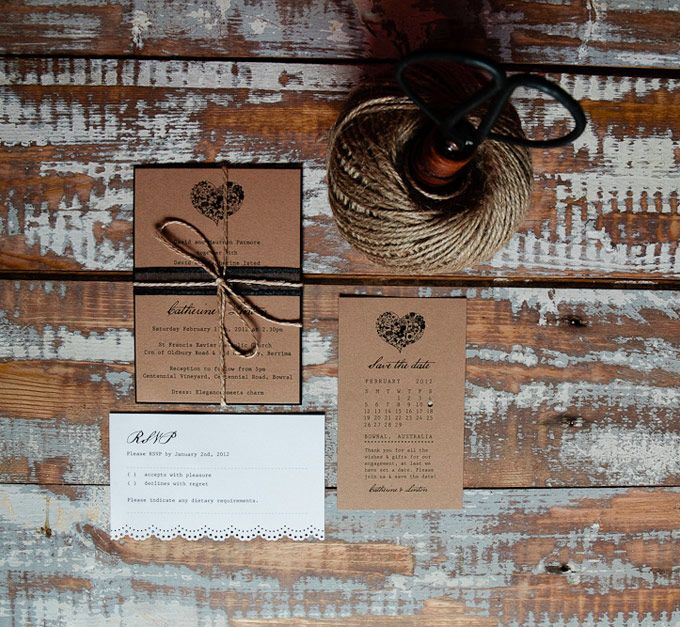 Valentine wedding invitations. The Paper Mint || thepapermint.com.au
