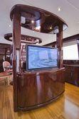 Italia, toscana, viareggio, tecnomar nadara 88' fly yacht di lusso — Immagine Stock