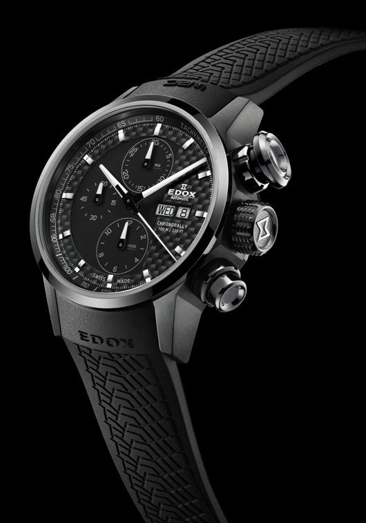 Edox Chronorally Automatic Chronograph – Front View