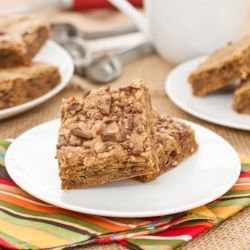 Brown Sugar Toffee Bars...Chewy, buttery, golden around the edges and packed with crunchy toffee bits.