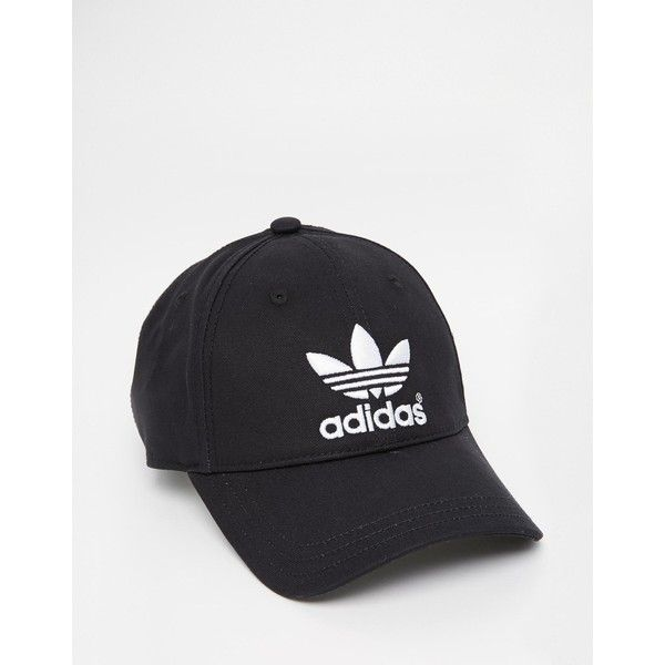 adidas Originals Classic Cap ($19) ❤ liked on Polyvore featuring accessories, hats, adidas cap, adidas hats, cotton hat, strap hats and adidas