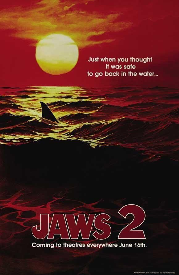 Jaws 2 Movie Poster 27 X 40 Roy Scheider Lorraine Gary D Licensed Con Immagini Squalo Cinema