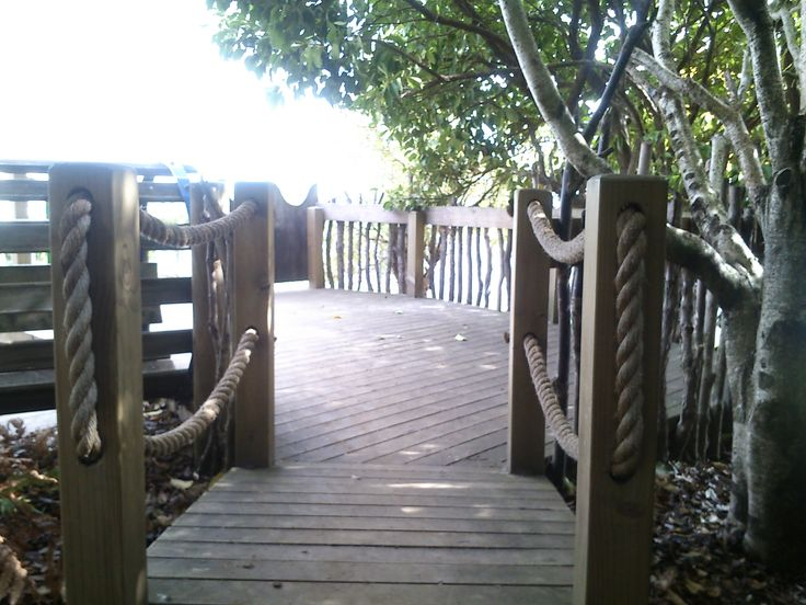 short bridge to the deck