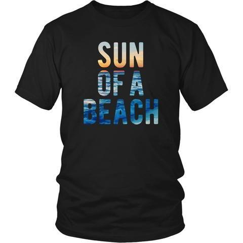 Sun of a beach T Shirt - District Unisex Shirt / Black / S   Unique tees, hoodies, tank tops  - 1
