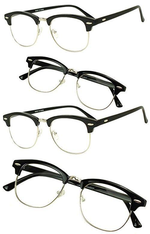 284ec2ebc1 Sunglass Stop - Retro Round Horned Rim Round Clubmaster RX Optical  Magnification Readers Eyewear Glasses Reading Strength 1.00 1.5 1.75 2.0  2.5 3.0 (Black ...