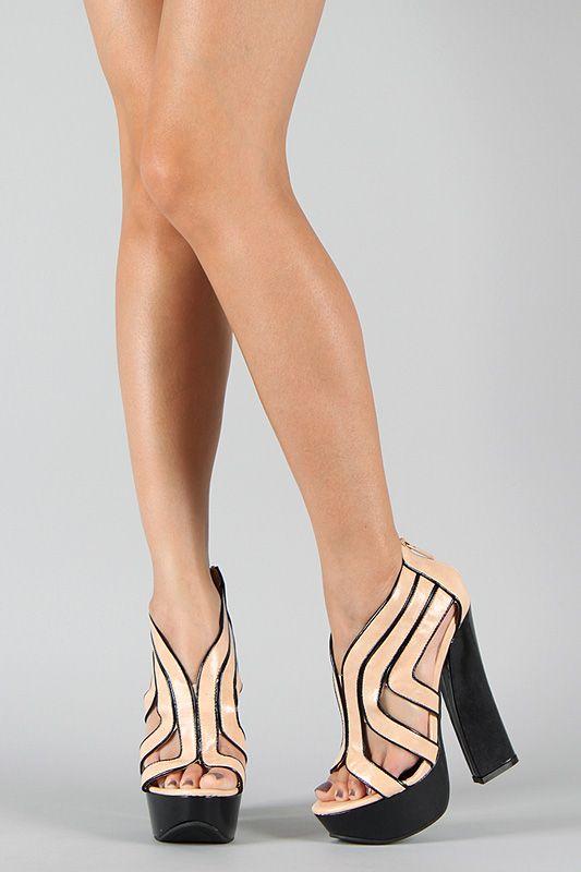 two tone open toe platform sandals on urbanog.com. five different color  combinations to