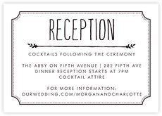 13 best Wedding Reception Cards images on Pinterest Wedding