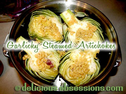 Delicious Obsessions: Garlicky Steamed Artichoke Recipe | www.deliciousobsessions.com