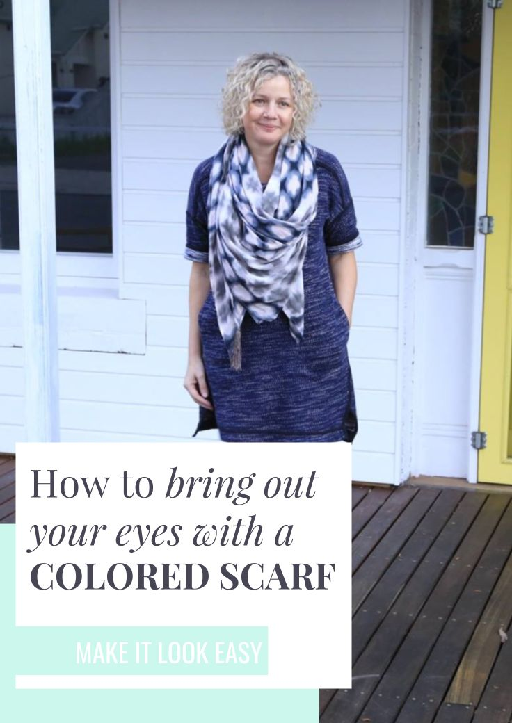 Scarfs can have a huge impact on your outfit. By adding a colored scarf to your outfit, you can draw attention to your face and eyes. Make sure you read this guide on how to wear a scarf before you buy a scarf of your own. Don't forget to save this to your fashion board so you can find it later.