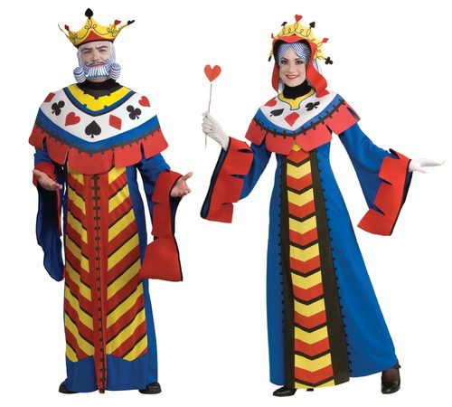 modest costumes for couples king and queen playing cards couple halloween party costume - Happy Halloween Costume