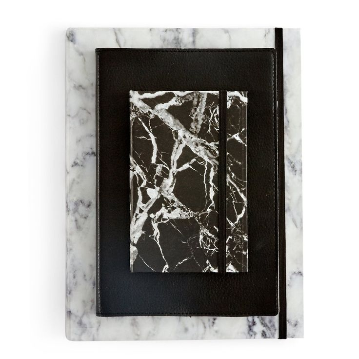 Me & My Trend - Black Marble Notebook - Small