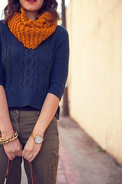 Pichi's Soup: Combinación de colores: naranja y azul