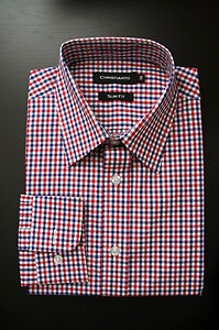 Red/Blue Gingham woven cotton for Christmas gift idea!
