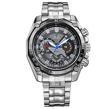V6 Steel Bracelet Army Luxury Japan Quartz Black Dial Sport Men's Wristwatch – AUD $ 18.61
