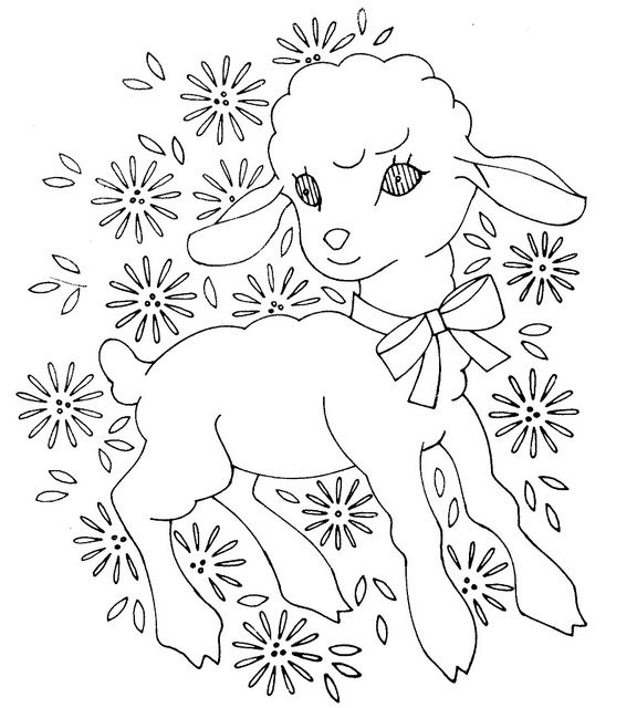 Baby Quilt Embroidery Pattern ~ little lamb