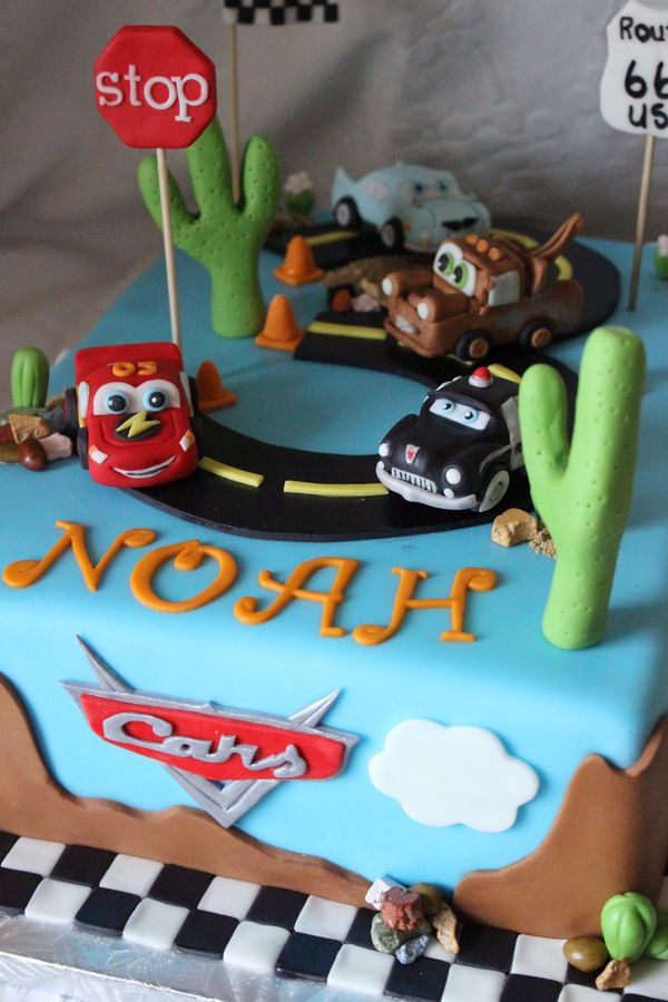Disney Cars Themed Birthday Cake Cakes