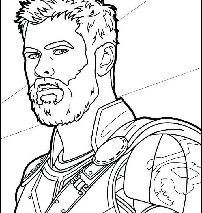 Thor Face Coloring Pages | Avengers coloring pages