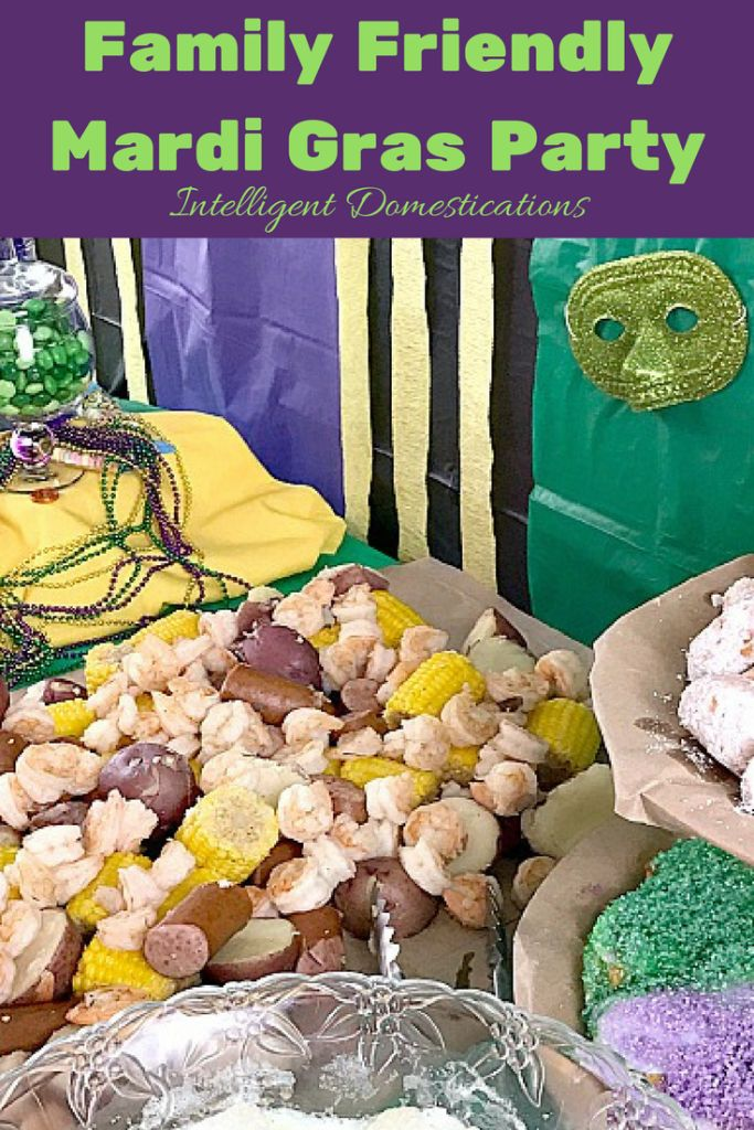 Family Friendly Mardi Gras party ideas. See all the fun and where to snag your supplies at Intelligent Domestications @orientaltrading