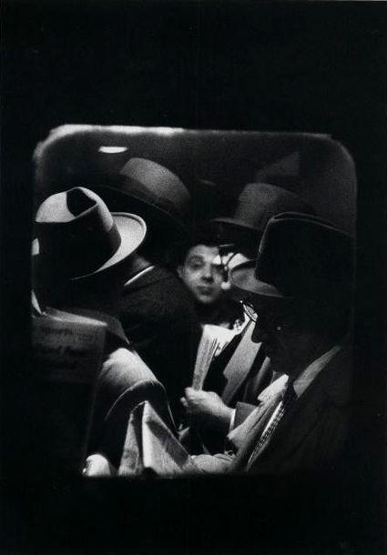 'Odd Man in', Penn Station by Louis Stettner, 1958.