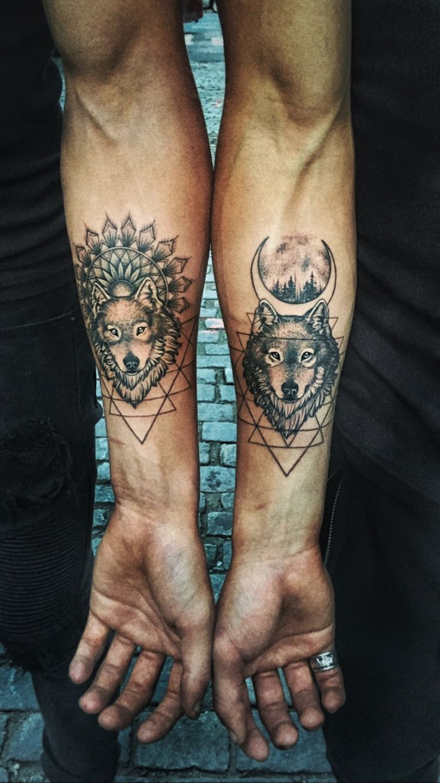 #Vincitwins #bangbang #tattoos #zachvinci #wyattvinci #wolftattoos