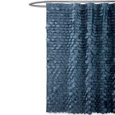Gigi Blue Fabric Shower Curtain Bed Bath Beyond