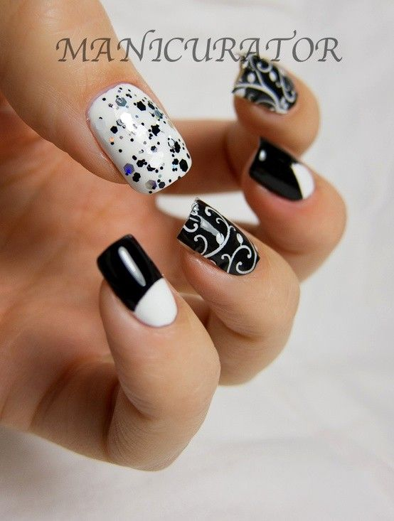 LOVE - Nail, nail, nail / Black and whites with Jamberry and Sonnetarium. Click through for Jamberry review.