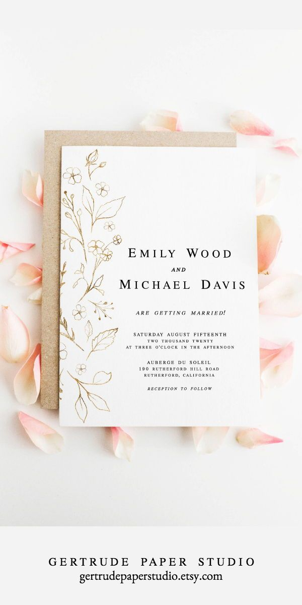 Printable Blush Pink Wedding Menu Digital Download Etsy In 2020 Wedding Invitations Diy Wedding Invitations Romantic Simple Wedding Invitations