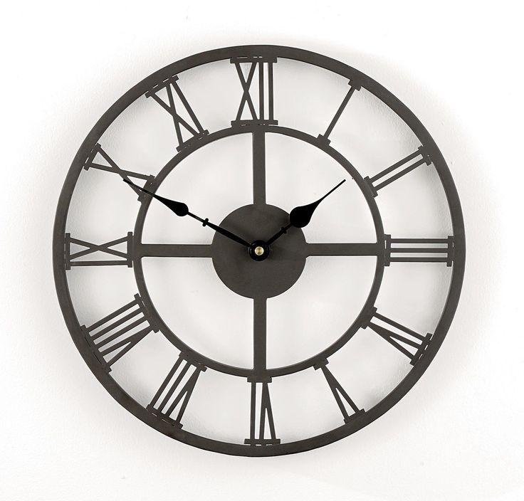 XL Retro Design Wanduhr Metall wetterfest 56 cm Römische Ziffern antik Design in Uhren & Schmuck, Weitere Uhren, Wanduhren | eBay!