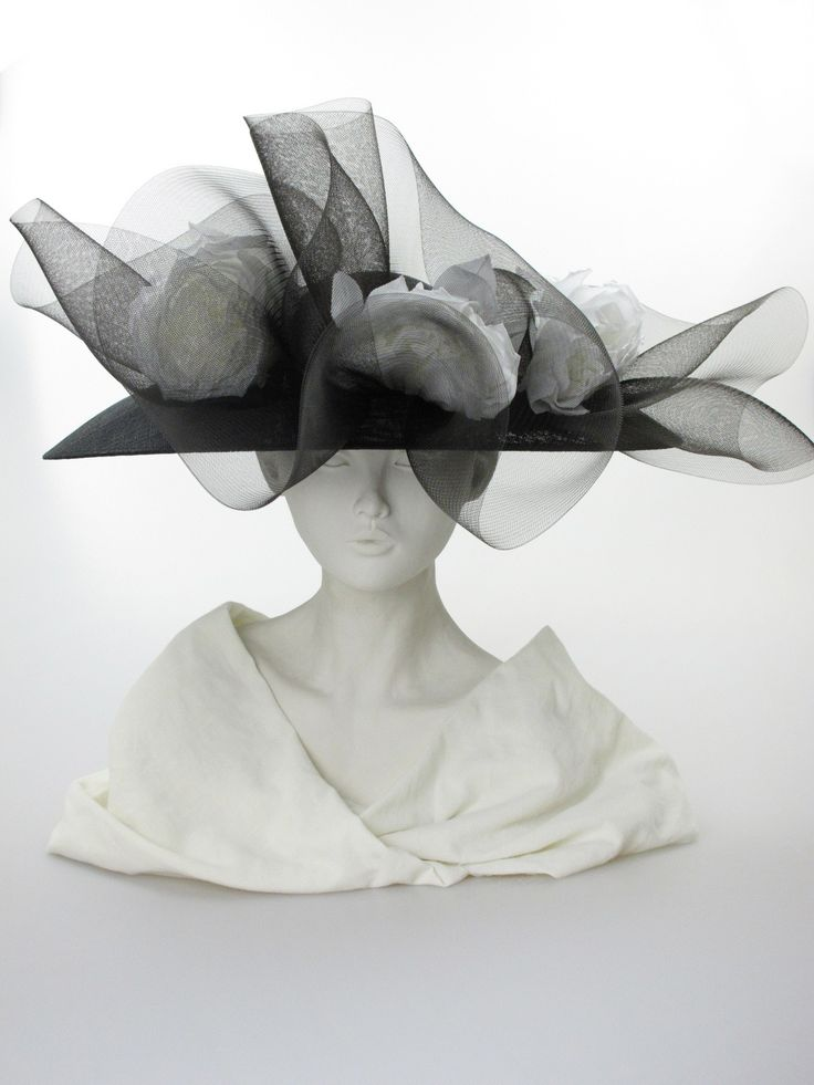 Philip Treacy Hats Ebay Wide Brimmed Hat Front View Label Philip Treacy Black Sweeping