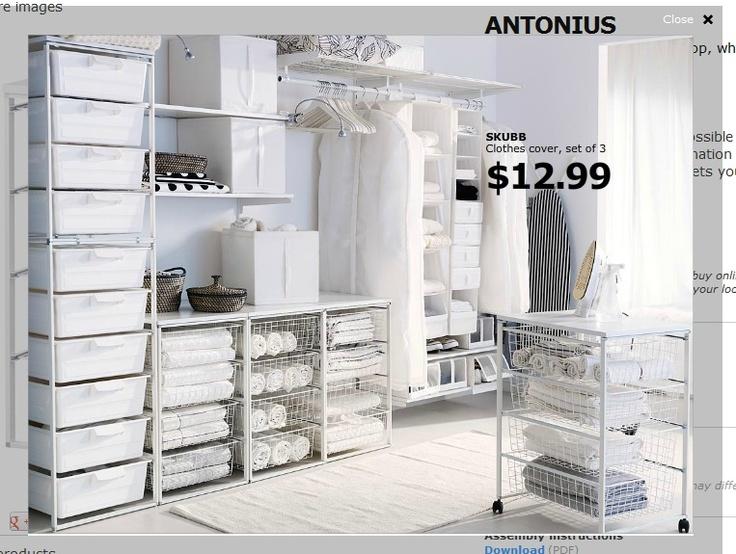 Ikea Antonius System Prefer Wire Basket Just Line Them