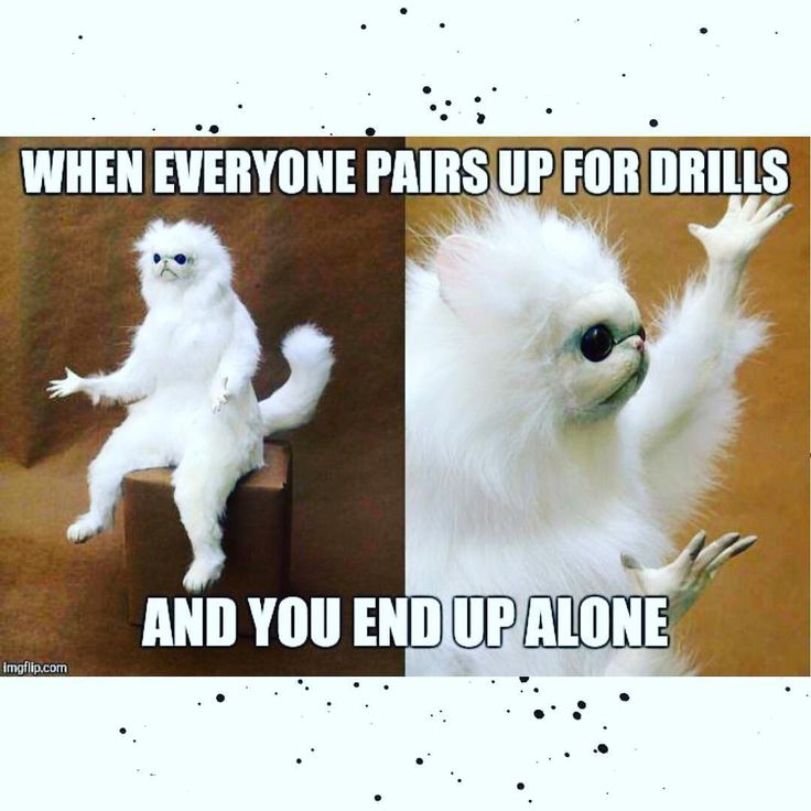 Story of my life as the only girl in the gym cause I know for DAMN sure I'm a good drilling partner...#preparetoswe