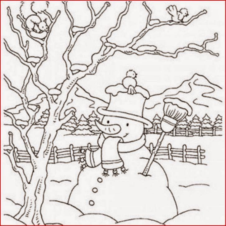 Winter Scenes Coloring Pages New Coloring Pages Winter Coloring Pages And Clip Art Free And Printable Coloring Pages Winter Santa Coloring Pages Coloring Books