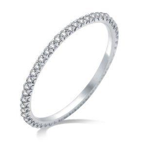 Miore Damen-Ring Memoire 750 Weißgold mit Brillanten Weiß ca.0.30ct MCJ001R53: Amazon.de: Schmuck