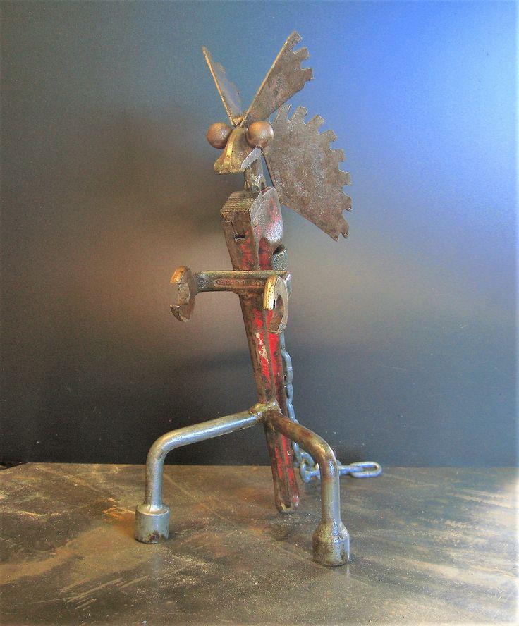 Raptor 110 scrap metal art recycle sculpture metal art