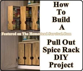 Superbe Build Your Own Pull Out Spice Racks _ The Homestead Survival