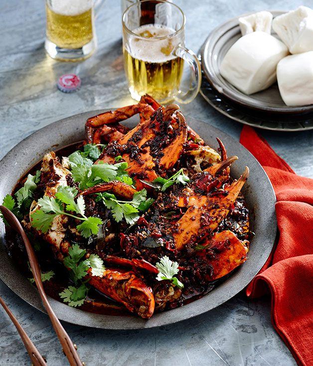 Australian Gourmet Traveller recipe for black pepper crab.