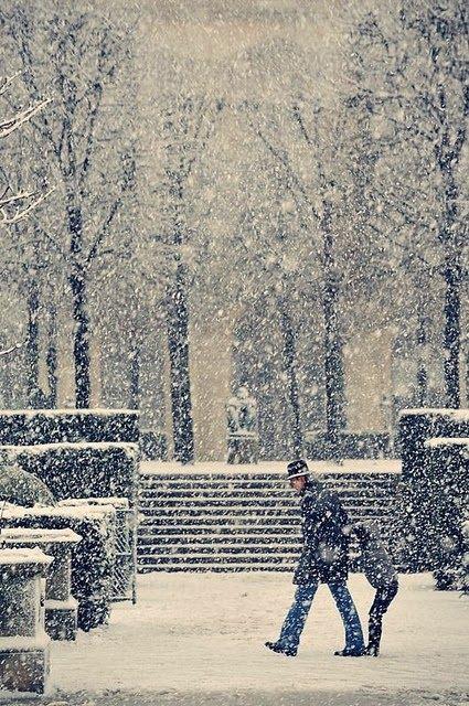 Snowy Paris <3