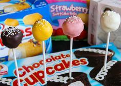 Hostess & Little Debbie Snacks Cake Pops - using Twinkies, strawberry shortcake rolls, and more
