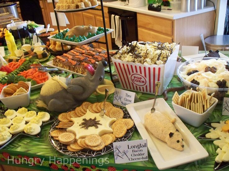 Hungry Happenings Carnival Of The Creepy Crawlers Halloween Themed Party RecipeHalloween